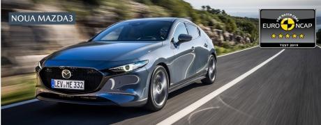 5 stele Euro NCAP pentru noua Mazda3